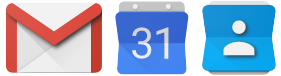 Gmail / Calendars / Contacts